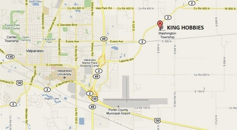 Directions to King Hobbies
